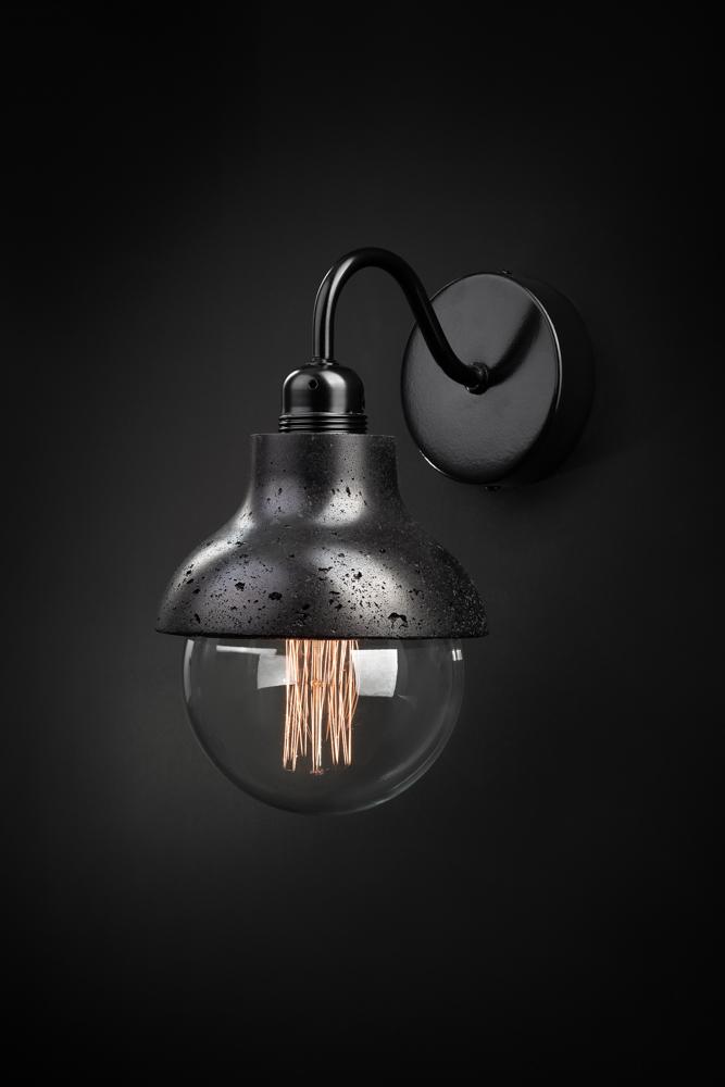 concrete lamp made by vaspi studio - Yoav vaspi yanai